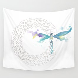 Celtic Knot Dragonfly Wall Tapestry