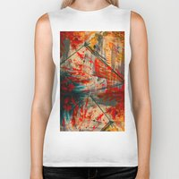 runner Biker Tanks featuring Kite Runner by CMYKulaga
