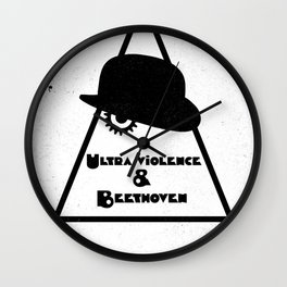 Black Brush - Ultra violenceand Beethoven Wall Clock