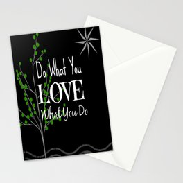 Sun Love - Black Stationery Cards