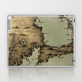Map of Nantucket Boston 1885 Laptop & iPad Skin