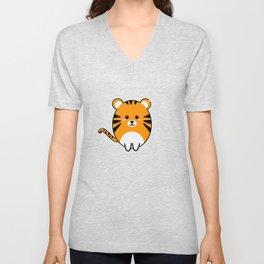 Big Cats Tigers Kawaii Tiger Unisex V-Neck