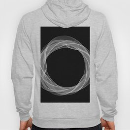 Black White Minimal Geometry Graphic Harmonic Abstract Line Hoody