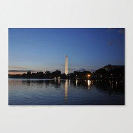 Washington Memorial Across Tidal Basin Canvas Print