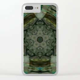 The Green Unsharp Mandala 1 Clear iPhone Case