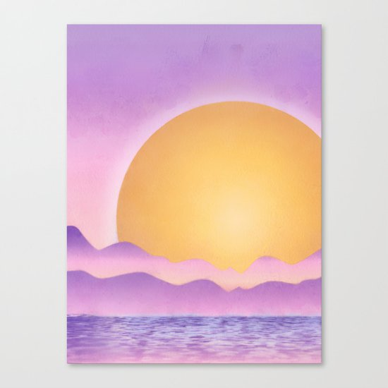 Sunset - purple variation Canvas Print