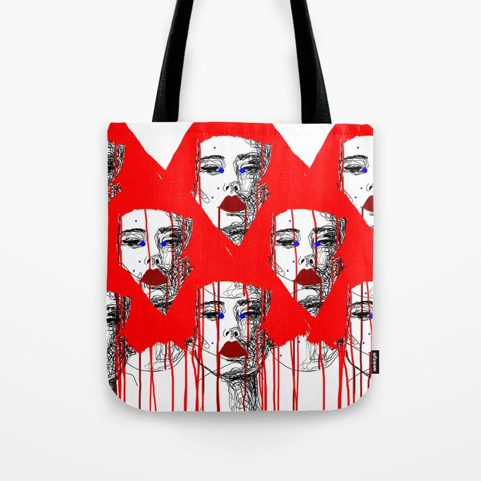 Red people Tote Bag