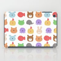 stickers iPad Cases featuring Animal Stickers by xiuen