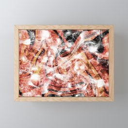 Orange gemstone glitter Framed Mini Art Print