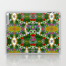 sugarskulls flower girls and love pop art Laptop & iPad Skin