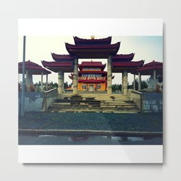 Buddhists Temple Metal Print
