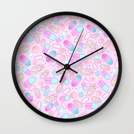 Pastel Pills Wall Clock