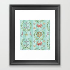 Sunken Damask Framed Art Print
