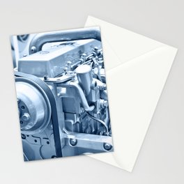 Turbo Diesel Engine Stationery Cards