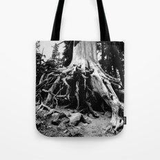 Mt. Hood Tree Roots Tote Bag