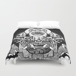 Leaning Tower Appease us Duvet Cover