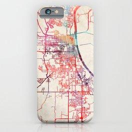 Leavenworth map Kansas KS iPhone Case