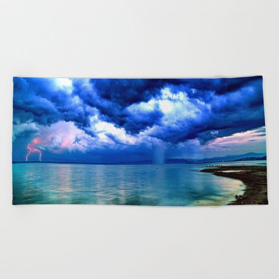 Majestic Rain Beach Towel