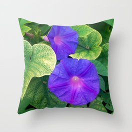 The nature is colorful Throw Pillow