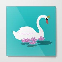 White Swan Princess Metal Print