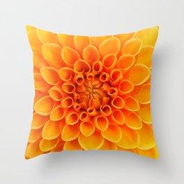 Orange Dahlia... Throw Pillow