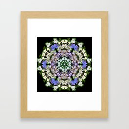 Spring wildflower mandala 1 Framed Art Print