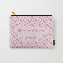 You Make Me Smile - Hearts Pattern Carry-All Pouch