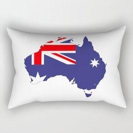 Australia Flag Map Rectangular Pillow