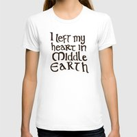 lotr T-shirts featuring I Left My Heart in Middle Earth by Leah Flores