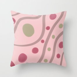 Flow abstract in pink Throw Pillow