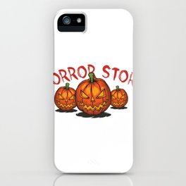 Hand Drawn Typeface Named Horror Story iPhone Case