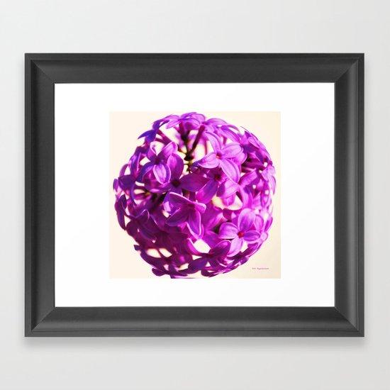 Lilac Ball two Framed Art Print