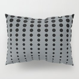 Reduced Black Polka Dots Pattern on PPG's Night Watch Pewter Green Color Background Pillow Sham