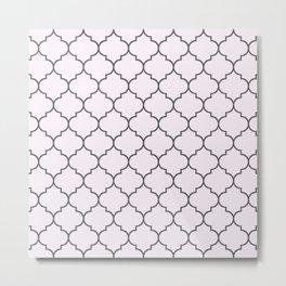 Imperial Trellis Winter 2018 Color: Pink Cream Metal Print
