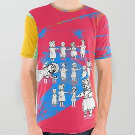 Puppets Invasion All Over Graphic Tee