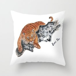 Tiger Chinese Style Throw Pillow