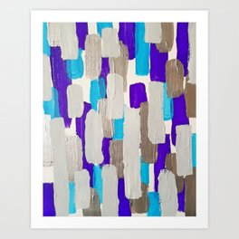 Calm Stripes Art Print