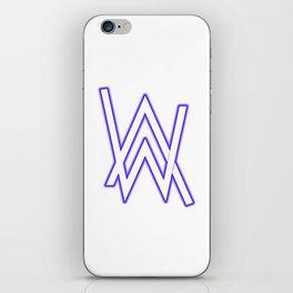 alan walker initial white iPhone Skin