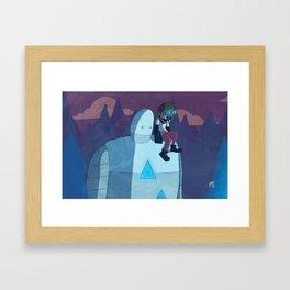 Robokid in the Forest Framed Art Print