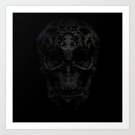 Skulls Black Art Print