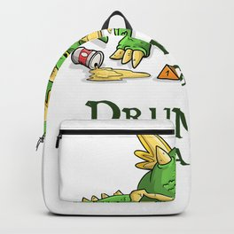 Drunks And Dragons Funny DM Dice Beer Tabletop Gaming Geek T-Shirt Backpack