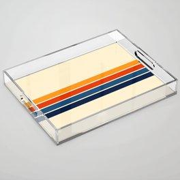 Classic Retro Stripes Acrylic Tray