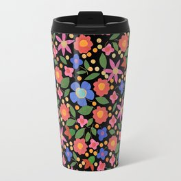 Folk Art Style Floral Travel Mug