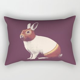 Lapin Catcheur (Rabbit Wrestler) Rectangular Pillow