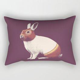 Lapin Catcheur (Rabbit Wrestler) Rectangular Pillow