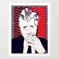 david lynch Art Prints featuring David Lynch  by Paola Rassu