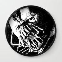 bane Wall Clocks featuring Bane by DeMoose_Art