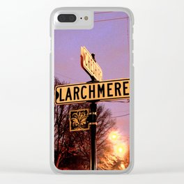 Night Signs Clear iPhone Case