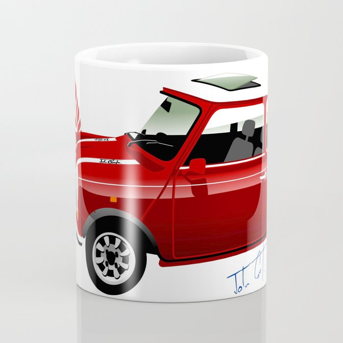 Classic Mini Cooper Coffee Mug by car2oonz   Society6