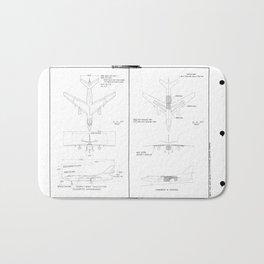 Douglas A3D-2T Skywarrior Schematic Bath Mat